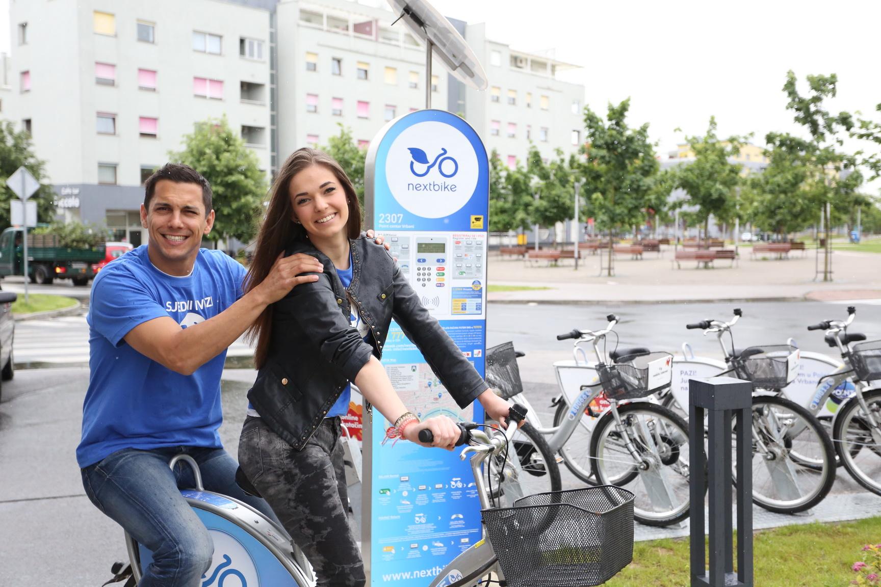 Nextbike - Mario Valentic i Miss sporta Lucija Tadic 2014